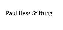 Logo Paul Hess Stiftung